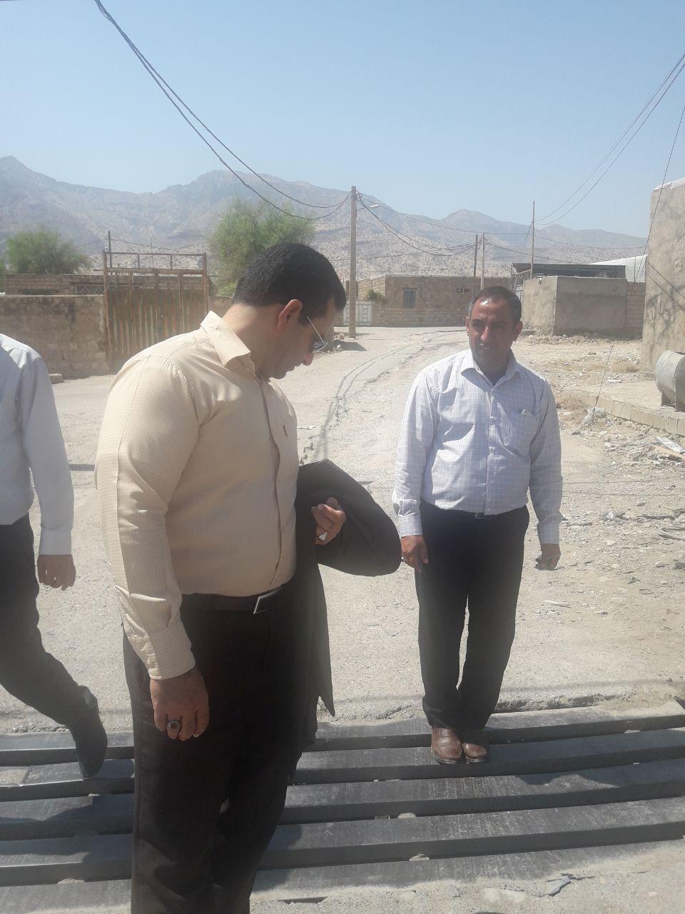 بازدید مهندس مرتضی کائیدی فرد، بخشدار مرکزی شهرستان پلدختر از طرح های درحال اجرای دهداری دهستان پاعلم
