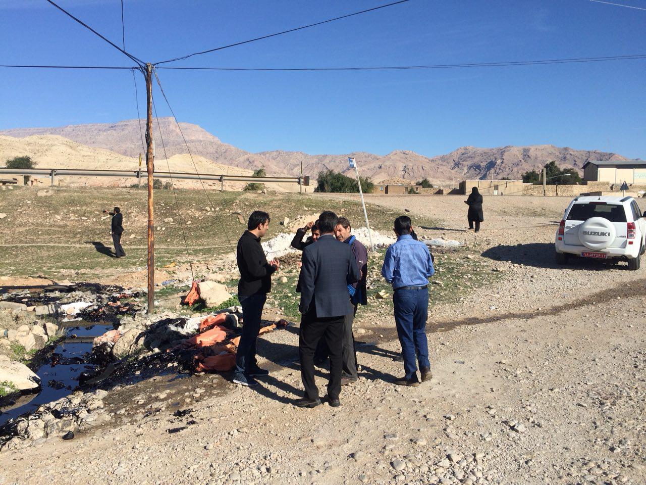 بررسی زیست محیطی حادثه نفت کش در دهستان پاعلم شهرستان پلدختر
