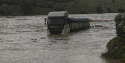 سیل و طغیان رودخانه سیمره در دهستان پاعلم شهرستان پلدختر