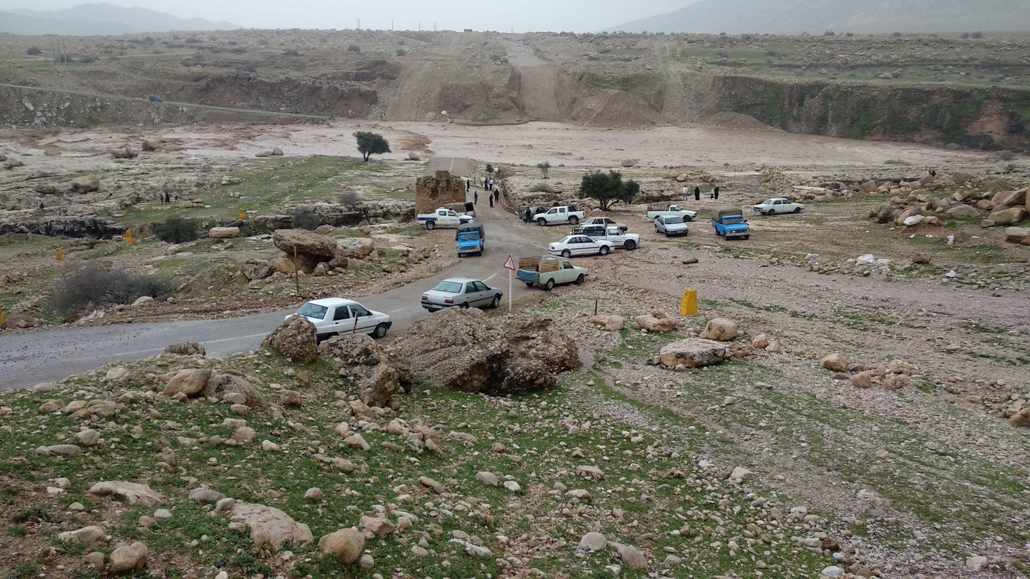 طغیان رودخانه سیمره در پاعلم بر اثر سیل در شهرستان پلدختر