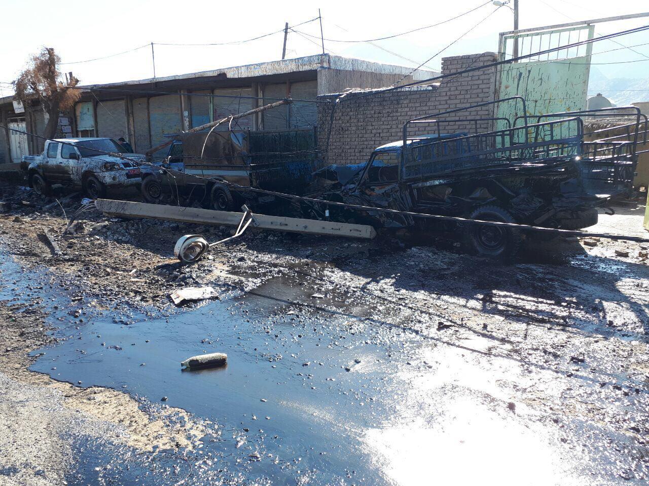 واژگونی یک دستگاه کشنده در دهستان پاعلم شهرستان پلدختر