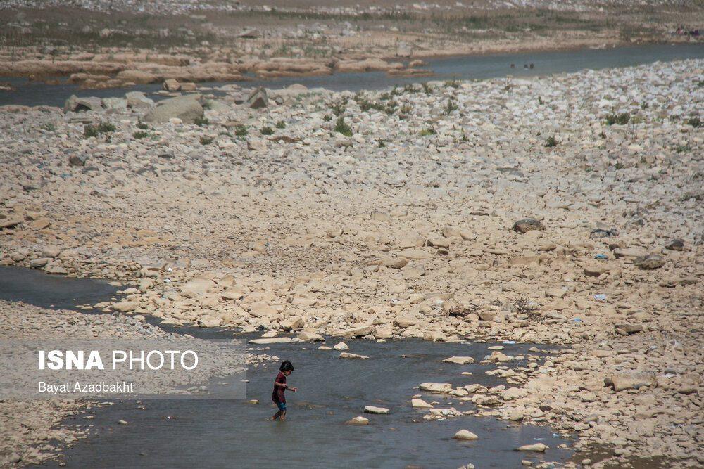 رودخانه کشکان سنددار شد